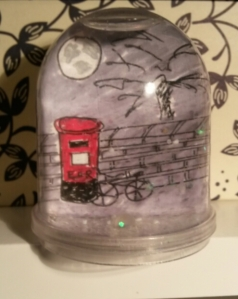 night time snowglobe